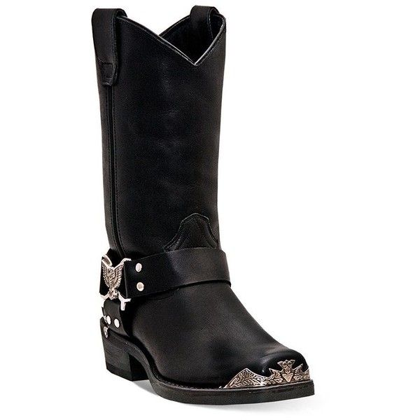 Pull on the powerful style of these men's Chopper cowboy boots from Dingo.Boot Features Mid-calf Eagle harness Pull straps Metal hardware at toe & heel Boot Co…