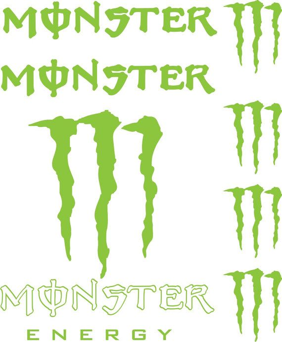 Monster energy vinyl decals car window sticker by craftmaniacs