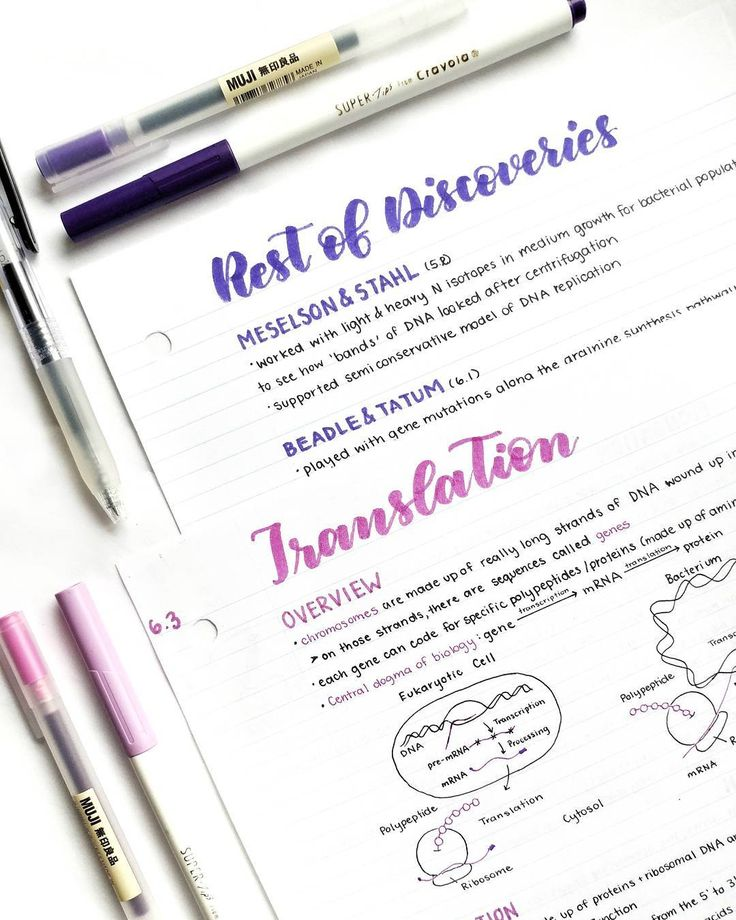 Purple and pink study notes // follow us @motivation2study for daily inspiration