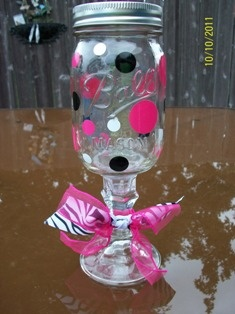 Redneck/Hillbilly wine glasses :)