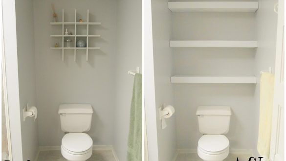 Home Interior: Unlimited Shelves Above Toilet Ideas Building A Floating Shelf In…   – most beautiful shelves