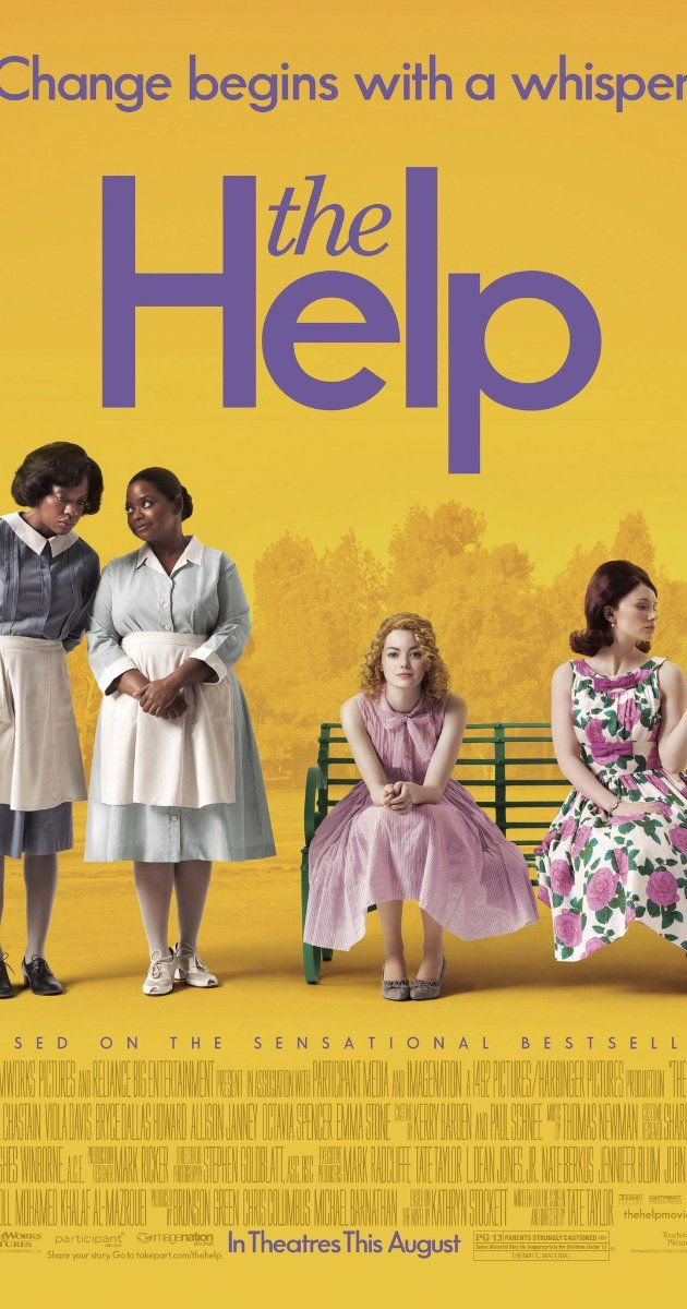 The Help (2011) ~ Emma Stone, Viola Davis. An aspiring author during the civil rights movement of the 1960s decides to write a book detailing the African-American maids' point of view on the white families for which they work, and the hardships they go through on a daily basis. Thoroughly enjoyable!