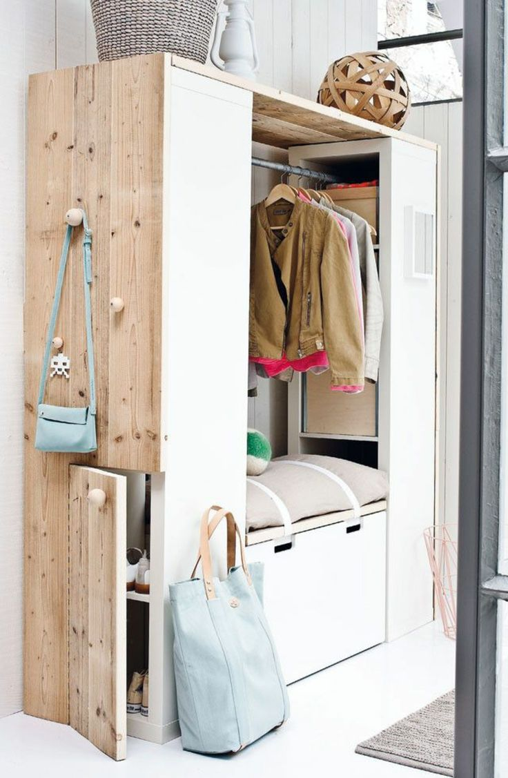 wandgestaltung flur 60 kreative deko ideen f r den flur entr es rangement et entr e. Black Bedroom Furniture Sets. Home Design Ideas