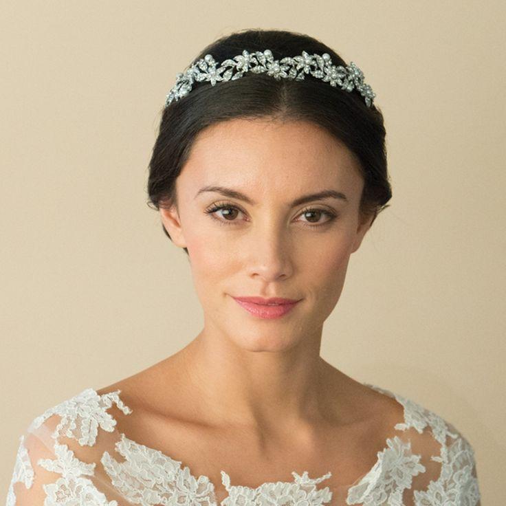 Flower garland wedding tiara - buy in the UK on-line at ayedo.co.uk