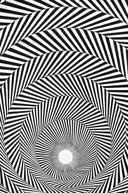 Bridget Riley - Blaze 4, 1964 [close-up] by de_buurman, via Flickr