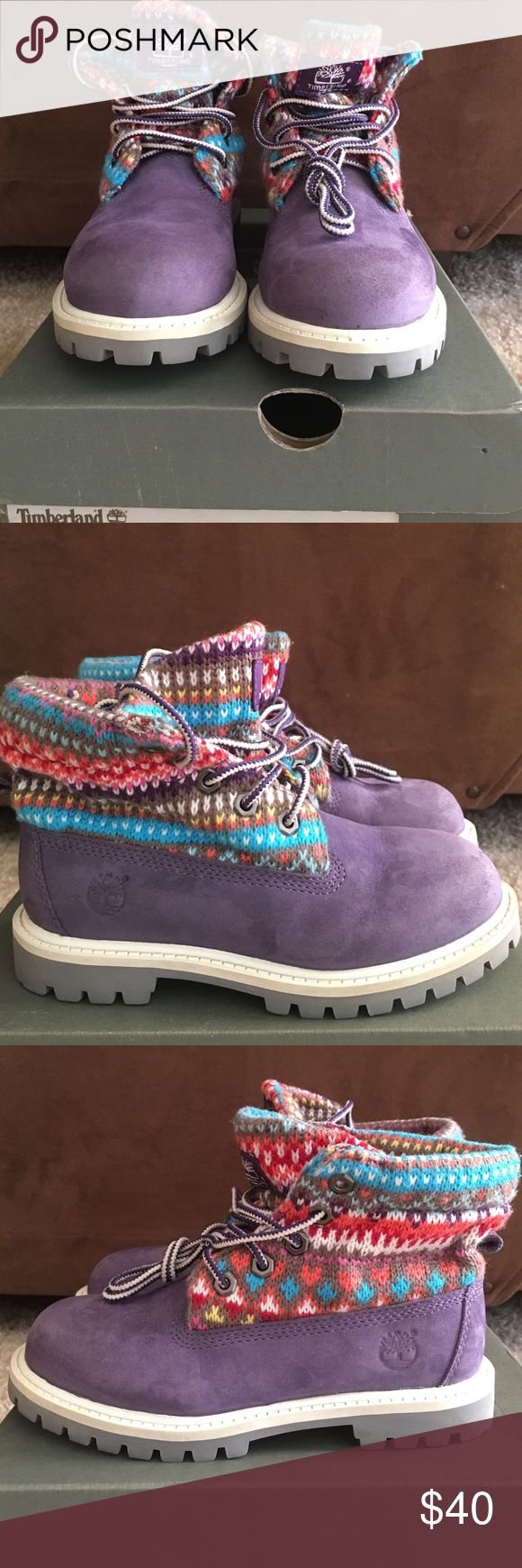 Purple Timberlands Size 12 little girls Timberlands. Worn twice and In excellent condition. Timberland Shoes Boots