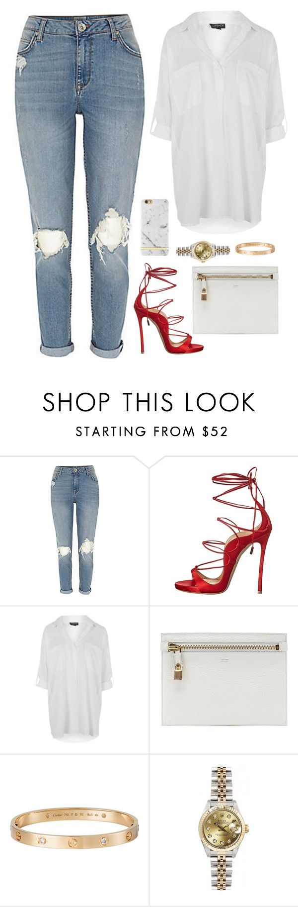 """."" by owl00 ❤ liked on Polyvore featuring Dsquared2, Topshop, Tom Ford, Cartier, Rolex and Richmond & Finch"