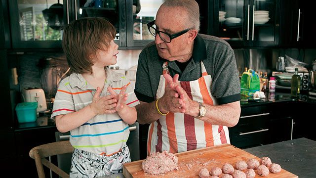 "Marc Vetri's father Sal's old-school meatball recipe for ""Good Morning America."""