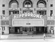 Hippodrome Movie Theater now Broadway Show are played there. Eutaw Street, Baltimore, MD