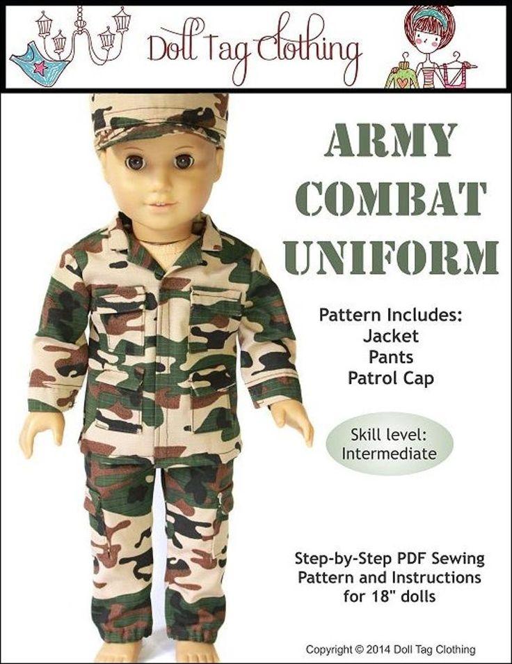 Army Combat Uniform - 18 inch Dolls   Craftsy