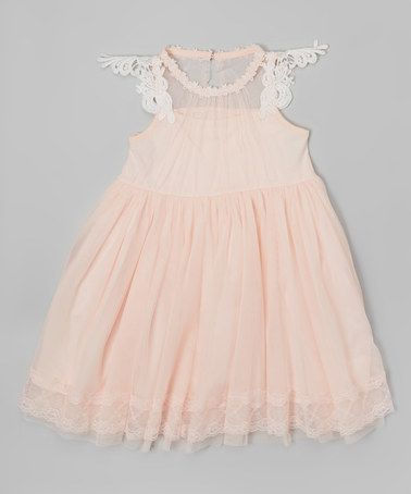 Look at this #zulilyfind! Peach Overlay Dress - Toddler & Girls by Frills du Jour #zulilyfinds