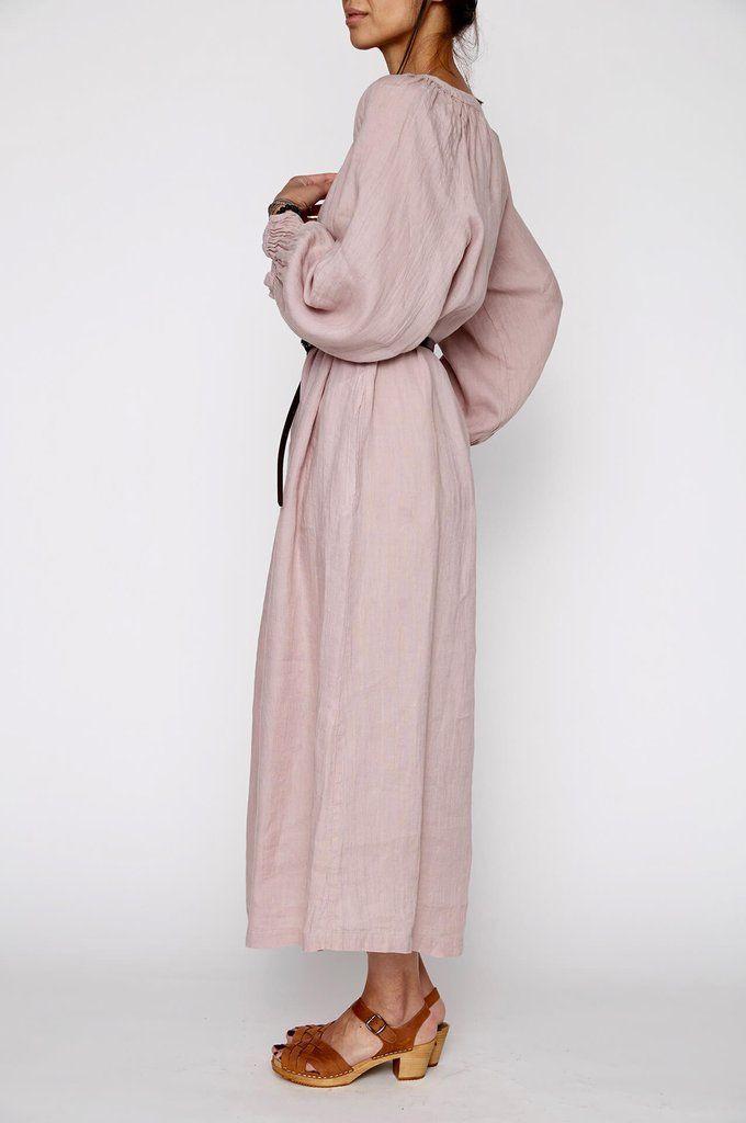 Nobonu Bonton Dress Long Powder Pink