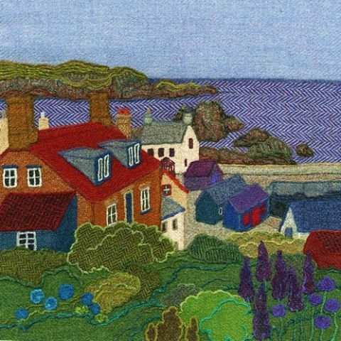 """27 vind-ik-leuks, 2 reacties - Jane Jackson (@brightseedtextiles) op Instagram: 'SOLD-""""St Abbs"""" a #harristweed original which is going to a lovely new home in #illinois…'"""