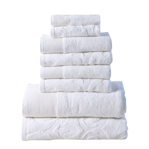 Affinity Elegance Egyptian Cotton 6 Piece Bath Towel Set White