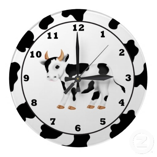 Country Cow Cartoon Clock Fun In The Kitchen Pinterest