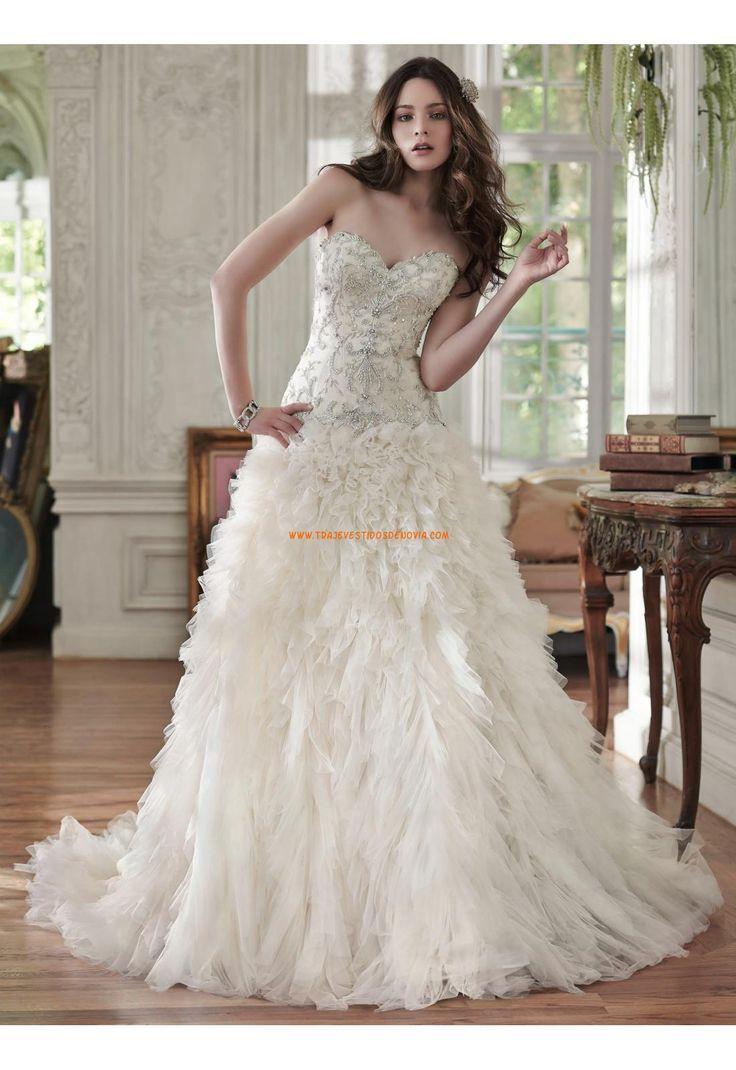 Maggie Sottero vestidos de novia de tul con abalorio