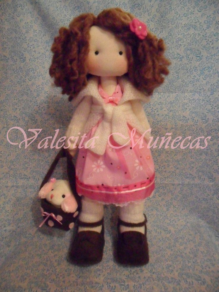 linda muñeca de tela