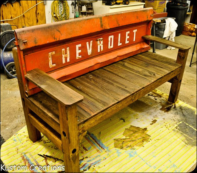 Tailgate Benches Kustomcreations With Images Tailgate Bench Used Outdoor Furniture Build Outdoor Furniture