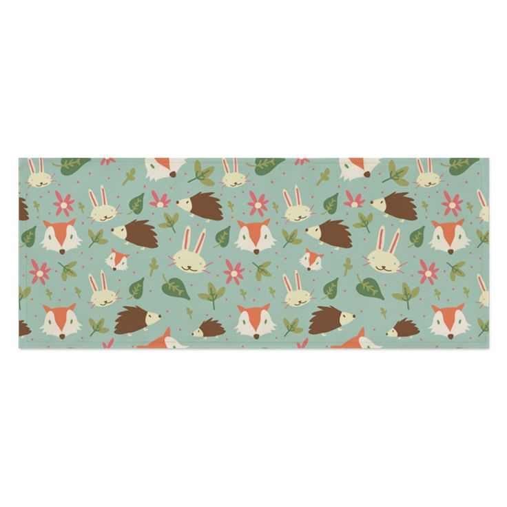 Fabric Print Tablecloth Desk Cover Mat Wide 100X45Cm Table Runner Animal Pattern