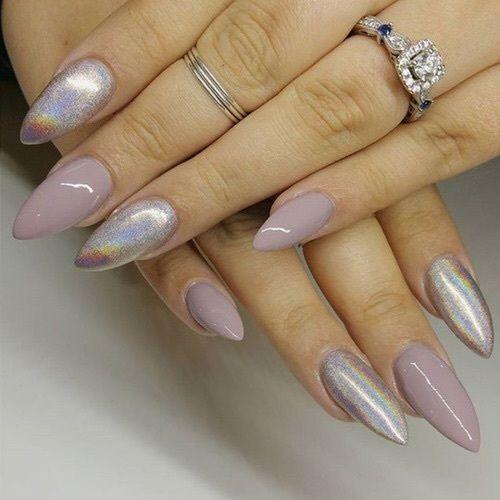 Stiletto holographic nails