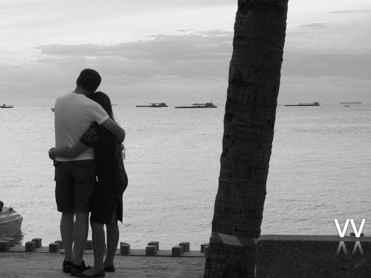 Couple enjoying the Sunset.