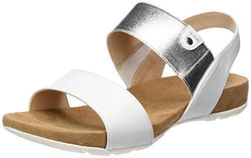 Caprice Damen 28604 Offene Sandalen mit Keilabsatz