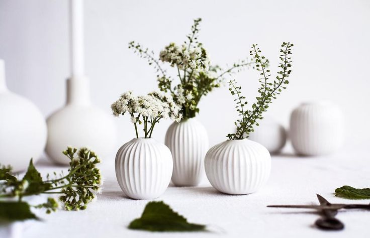 NEW IN: The Hammershøi vases from @kahlerdesign. The set of three miniature vases feature the classic Hammershøi furrows inspired by the world-famous artist, Svend Hammershøi, who created his works at Kähler's old workshop in Næstved. #skandium #skandiumlondon #whiteinteriors #scandinavianhome #scandinaviandesign #scandinaviandesign #spring #kahler #svendhammershøi #danish #danishdesign