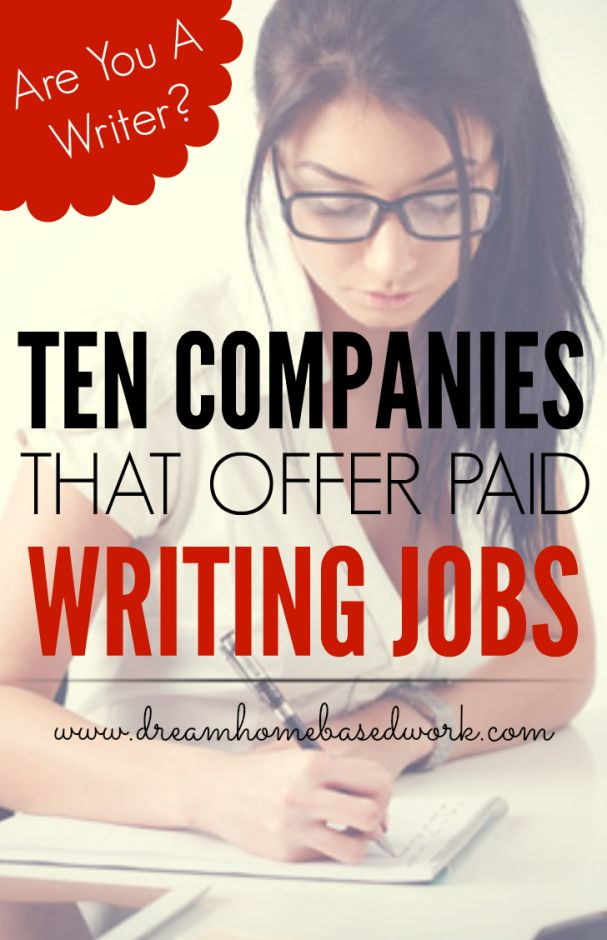 writing jobs for highschool students