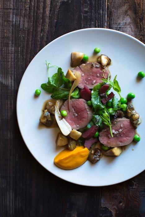 Food presentation by Outerlands Restaurant, San Fransisco