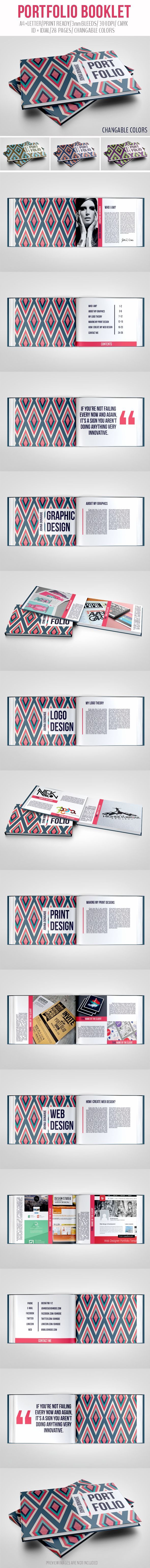 Portfolio Booklet by crew55design, via Behance---this is awesome and such a good idea!