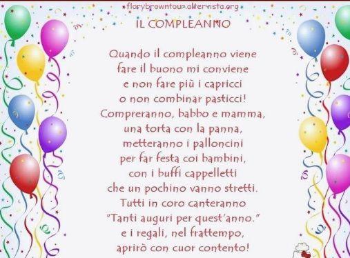 Inviti Primo Compleanno Frasi Poesie Di Compleanno Poesie Mamma
