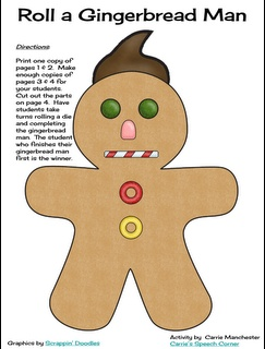 Carrie's Speech Corner: A Gingerbread FREEBIE for you!