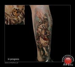 Horse Tattoo , Artist@Dominik Szymkowiak, Art Line Tattoo Poznan