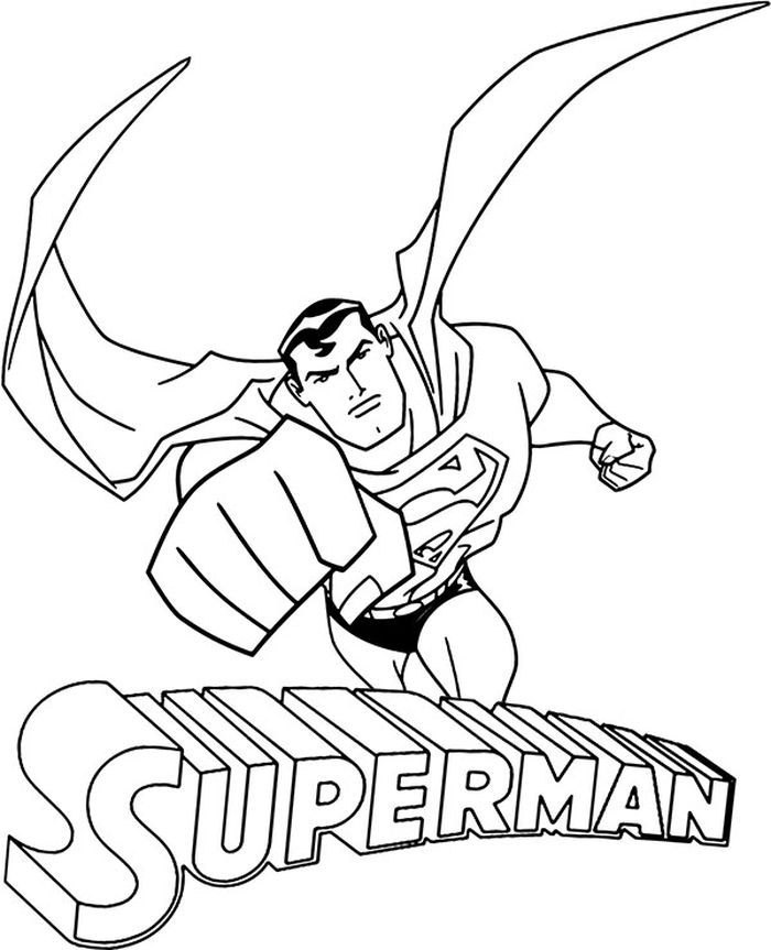 Coloring Pages For Kids Superman In 2020 Superman Coloring Pages Superhero Coloring Pages Batman Coloring Pages