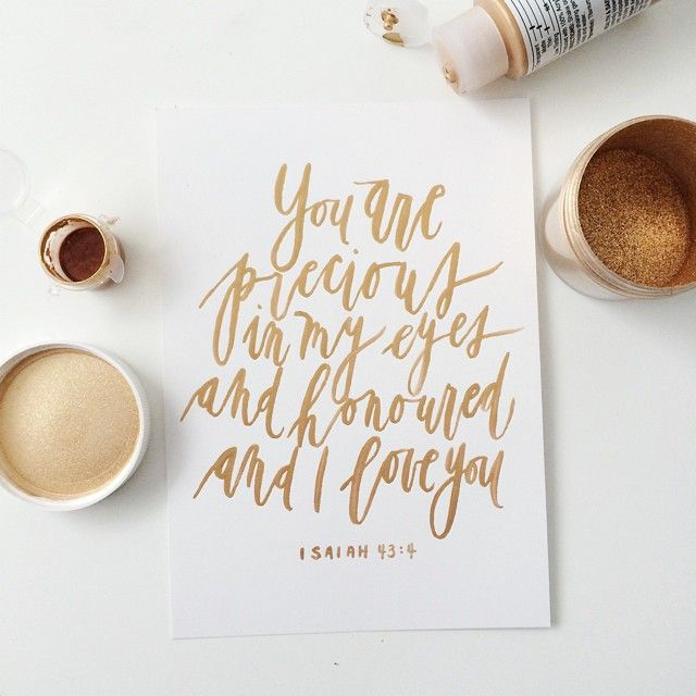 Gold calligraphy quote brush by written word