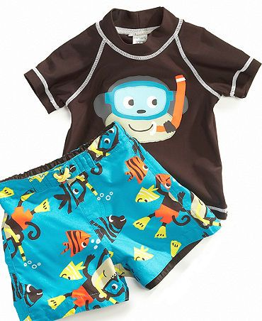 Our wonderfully fun baby boy swimsuit is made from silky soft stretch knit microfibre that wraps baby in absolute comfort and sun protection. We've flat locked every seam so there is nothing to bind and pinch tender new skin, while the handy full length front zipper has a protective inside flap and top tab.5/5(98).