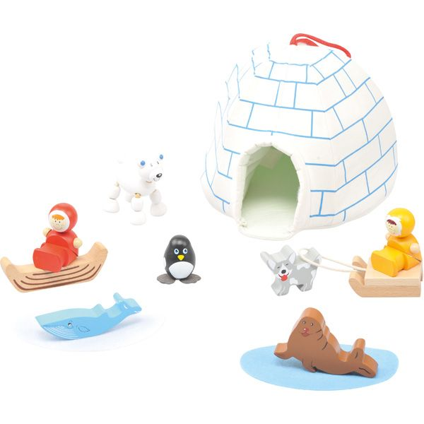 Mini igloo dla dzieci #creative #toys #zabawki #kids #fun #wooden #gifts  http://www.mojebambino.pl/zestawy-do-zabaw-swobodnych/3481-mini-iglo-i-wioska-eskimosow.html?search_query=521197&results=1