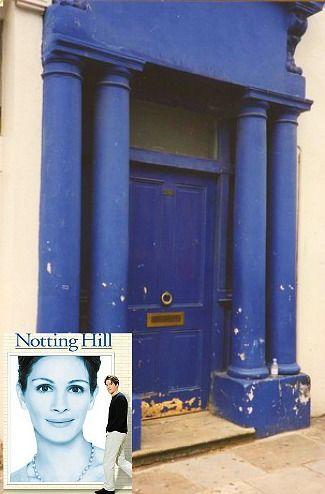Notting Hill movie sets blue door.  Hugh Grant's front door.