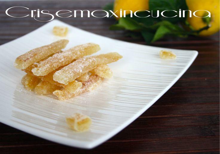 Scorze di limone candito, ricetta economica e golosa