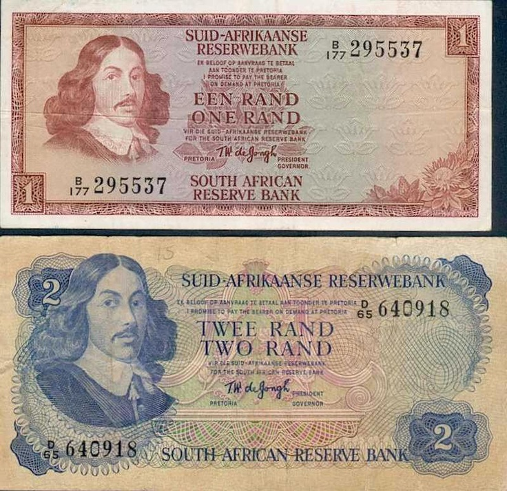 Old SA bank notes - remember when your birthday card contained a blue one & you could actually buy something with it? :-D
