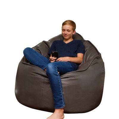 The Giant Pod Bean Bag Chair Upholstery: Gray - http://delanico.com/bean-bag-chairs/the-giant-pod-bean-bag-chair-upholstery-gray-736265574/