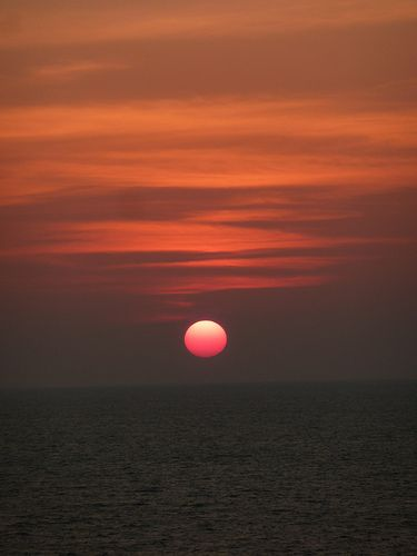 Sunset in the Gulf of Oman