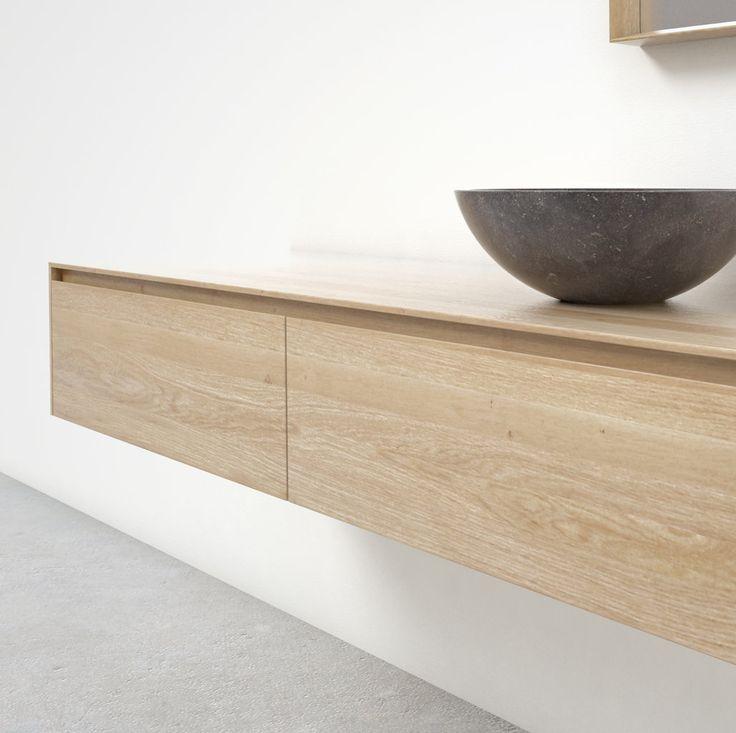 17 best images about hout in de badkamer on pinterest vanities malaga and modern bathroom - Eigentijdse designkast ...