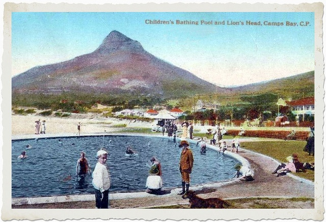 Camps Bay children's pool 1900 by HiltonT, via Flickr