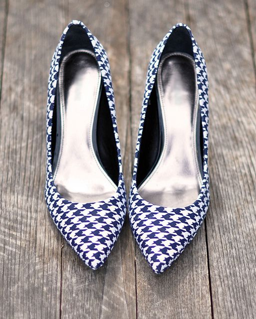 DIY heels covered in fabric