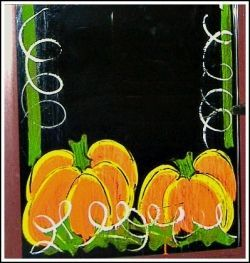Painted Pumpkin window border ideas