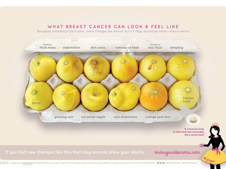 Jovem designer decidiu colocar os sintomas do cancro da mama numa caixa com limões