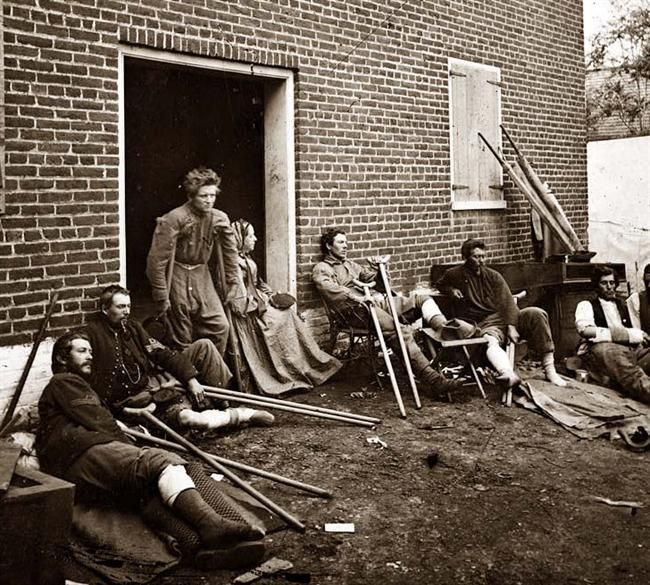 Injured Soldiers Fredericksburg