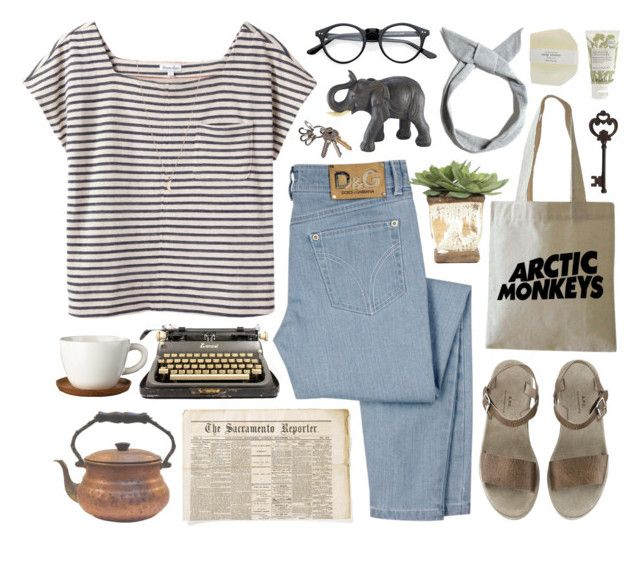"""""""do i wanna know?"""" by beachy-palms ❤ liked on Polyvore featuring Steven Alan, D&G, Pier 1 Imports, Höganäs Ceramic, Lux-Art Silks, Pull&Bear and Jonathan Product"""