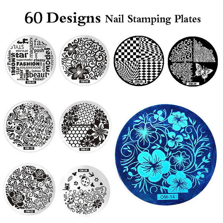 #AliExpress mp0001 OM Nail Art Plate Stamp Stamping Set Round Stainless Steel DIY Nail Polish Print Manicure Nail Stencil Template (32792485317) #SuperDeals